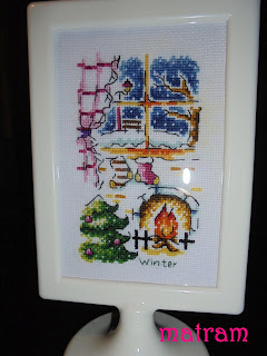 cross stitch winter soda