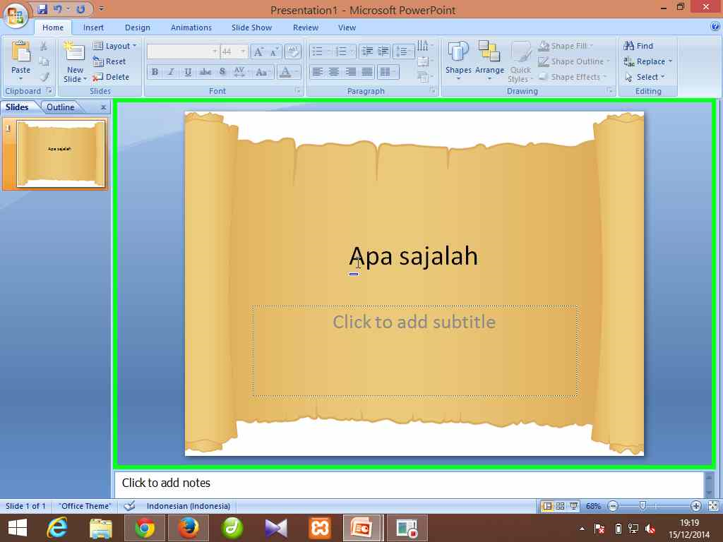 cara mengganti background slide powerpoint