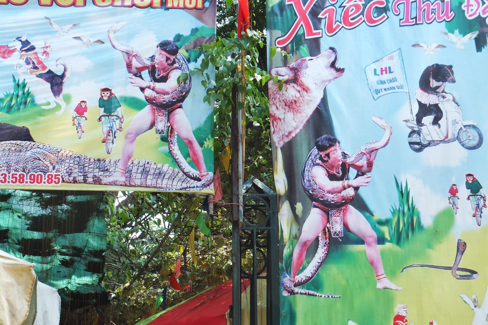 hanoi-zoo-snake ハノイ動物園のヘビ使い