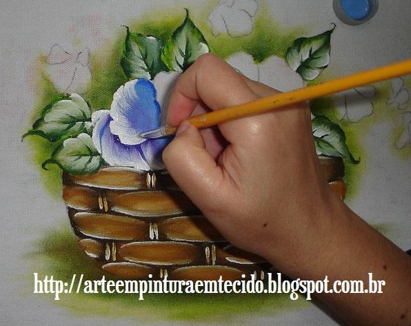 pintura em tecido amor perfeito como fazer