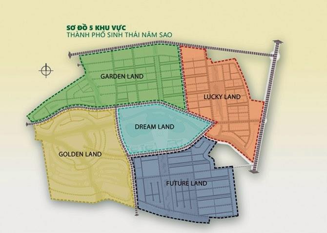 Dự án Five Star Eco City - Sơ đồ phân lô khu Lucky Land