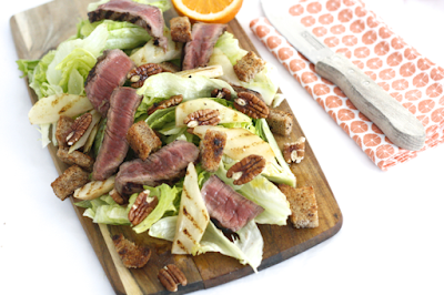 SKINNY SIX: STEAK-GRILLED PEAR SALAD