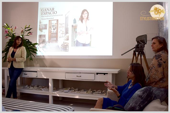 Workshop ABC deco styling en Host Husares Home Studio. Todas atentas en la charla de Mariana Kratochwill