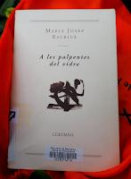 A les palpentes del vidre / Maria Josep Escrivà (coberta) per Teresa Grau Ros