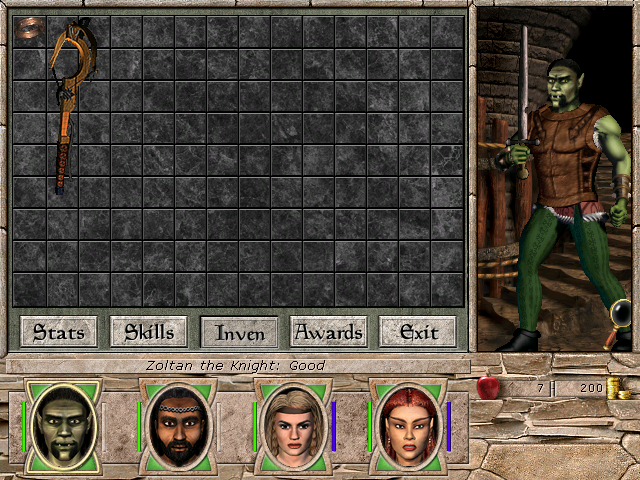 Paperdoll in Might and Magic 7