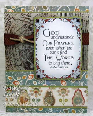 "Our Daily Bread designs ""Full of Grace Collection - Pray"" Designer Dawn Lusk"