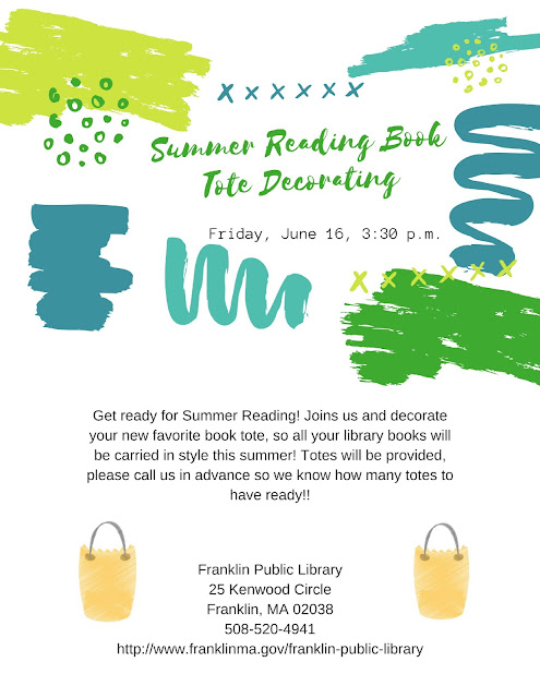 Franklin Library: Summer Reading Book Tote Decorating - June 16