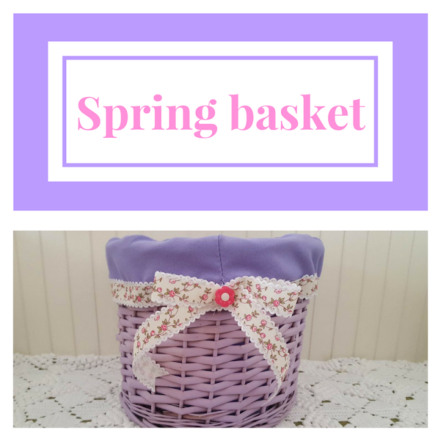 How to dress-up a basket for spring