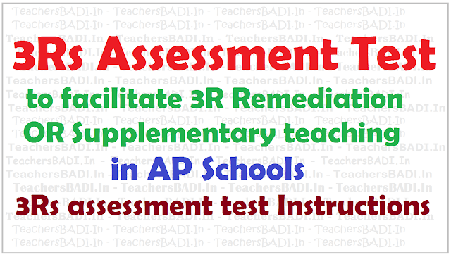 3Rs Assessment Test,3R remediation/supplementary teaching,AP Schools