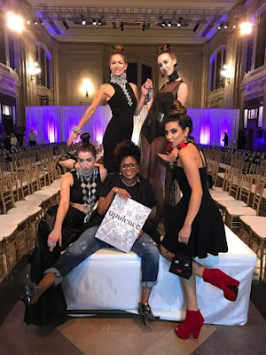 Yoro Creations models on the KCFW runway at Union Station