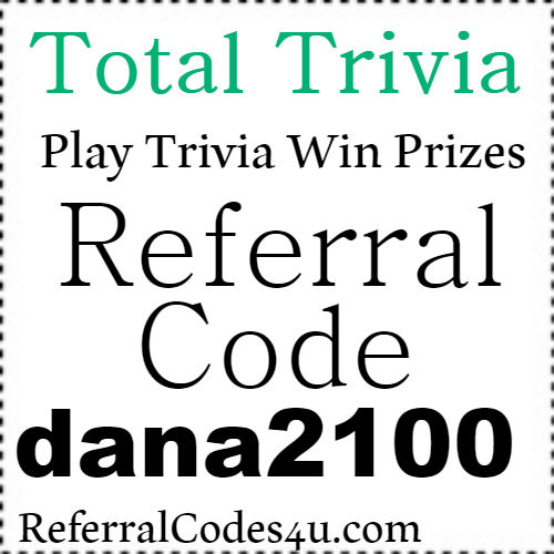 Total Trivia App Referral Code, Invite Code, Sign Up Bonus and Reviews 2018-2019