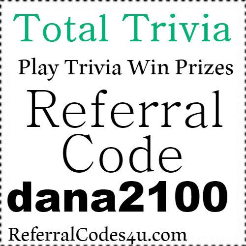 Total Trivia App Referral Code, Invite Code, Sign Up Bonus and Reviews 2021-2022