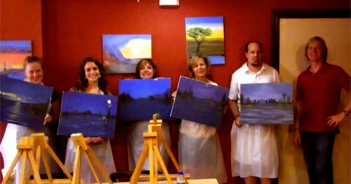 How to start a sip paint business wine painting the for Sip and paint houston