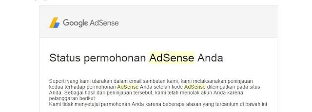 Pengalaman Manis Ditolak Google Adsense Berkali Kali