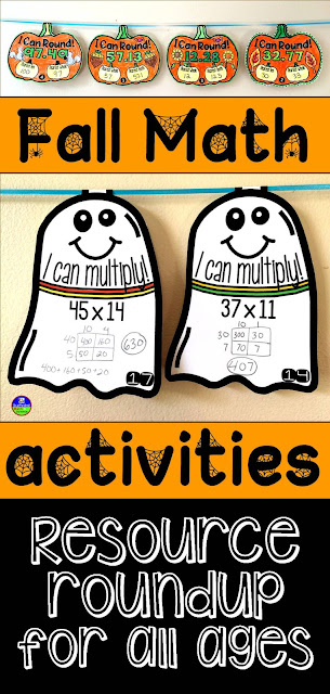 Fall and Halloween Math activities