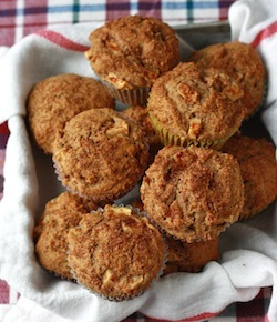 Apple Muffins with Ceylon Cinnamon, Allspice and Maple Syrup