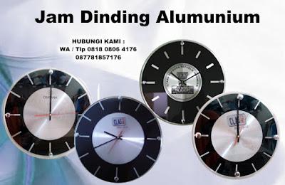 Jam Dinding Alumunium, jam dinding aluminium tipe 3030 AL, jam dinding aluminium tipe 395 AL, Promosi Aluminium Jam Dinding