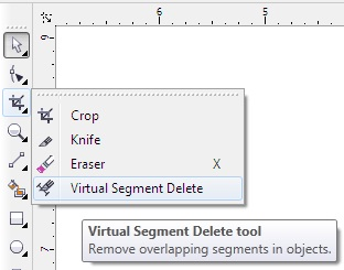 How to delete unwanted extra segment in corel draw X6 and x7