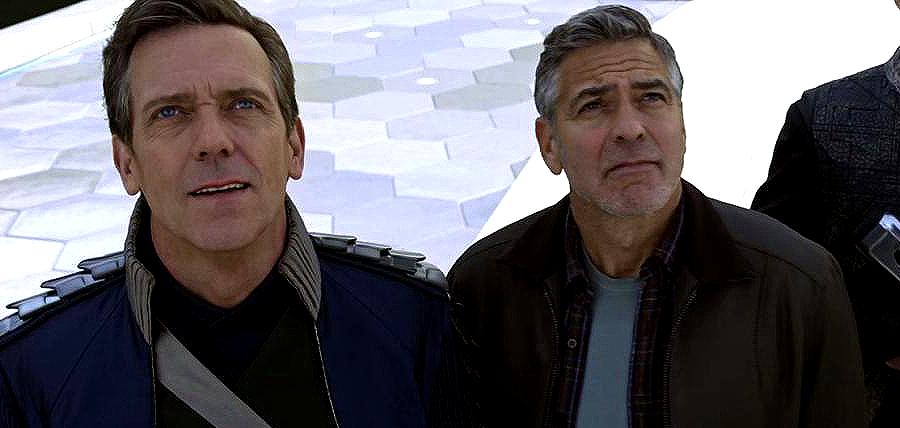 Hugh Laurie şi George Clooney în TOMORROWLAND