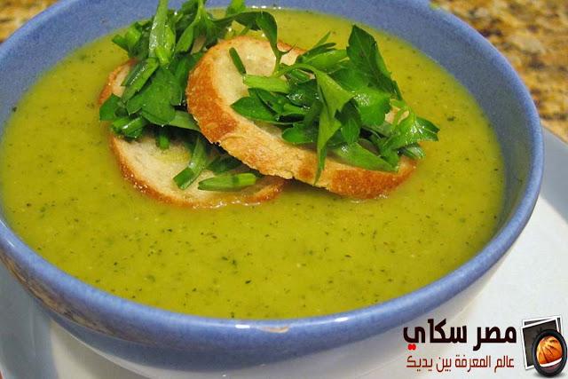 حساء الكوسة وخطوات التحضير للريجيم Zucchini soup