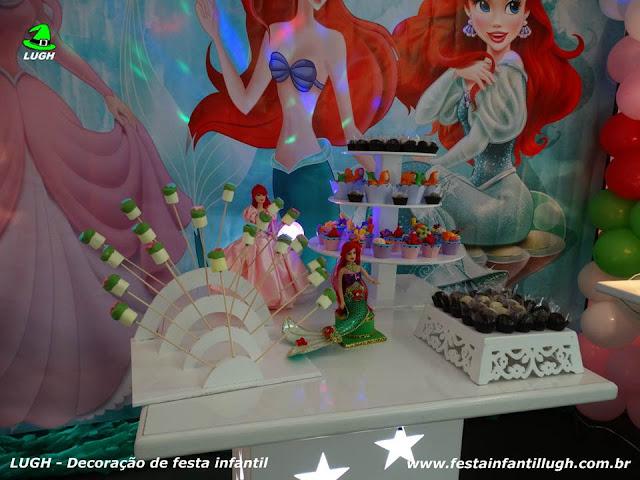 Decoração Ariel para aniversário infantil