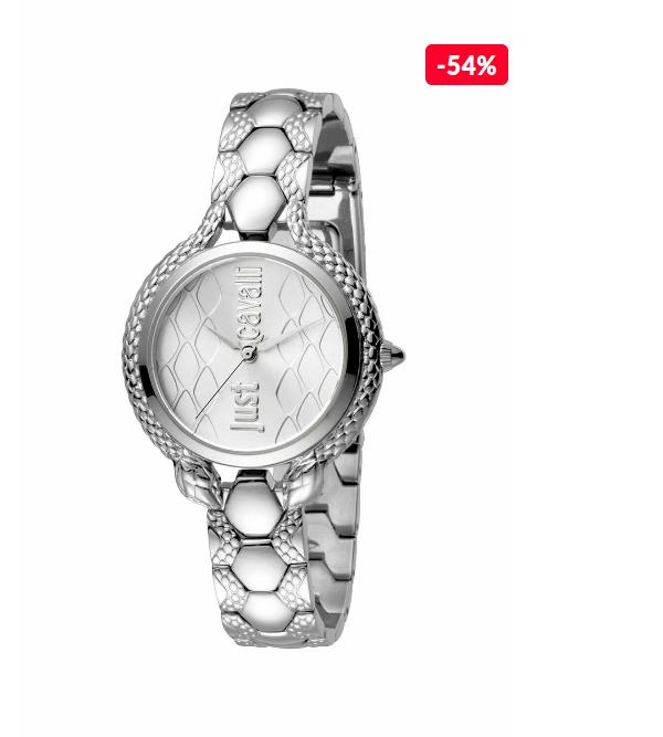 Ceas femei elegant argintiu Just Cavalli Only Time JC1L046M0055 REDUCERE