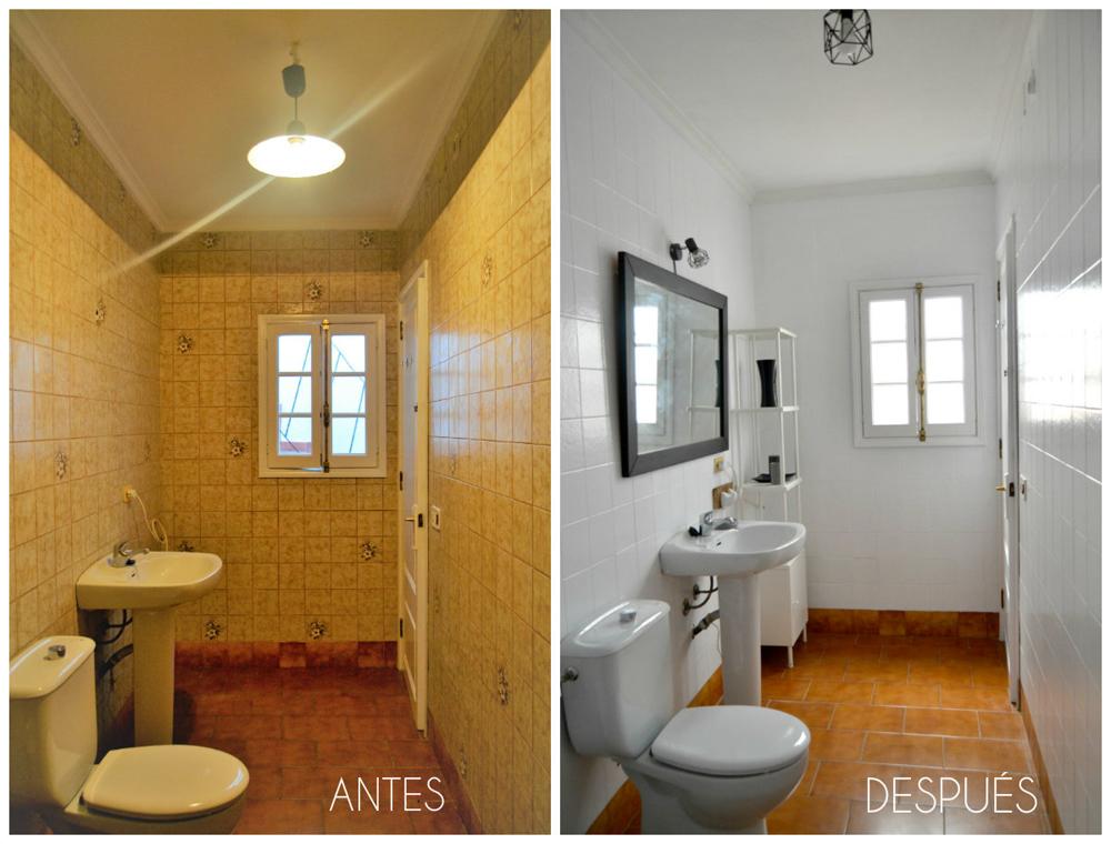 Home staging Menorca, antes y después de un baño, renovación sin obras, con un resultado casi mágico