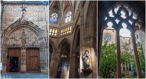 Interior catedral de Santiago. Bilbao.