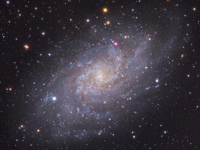 Messier 33: Thiên hà Tam giác. Tác giả: Giovanni Benintende.