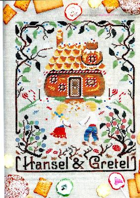 Sampler Hansel e Gretel da ricamare a punto croce