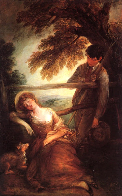 Haymaker and the Sleeping Girl, Thomas Gainsborrow, late 1780s