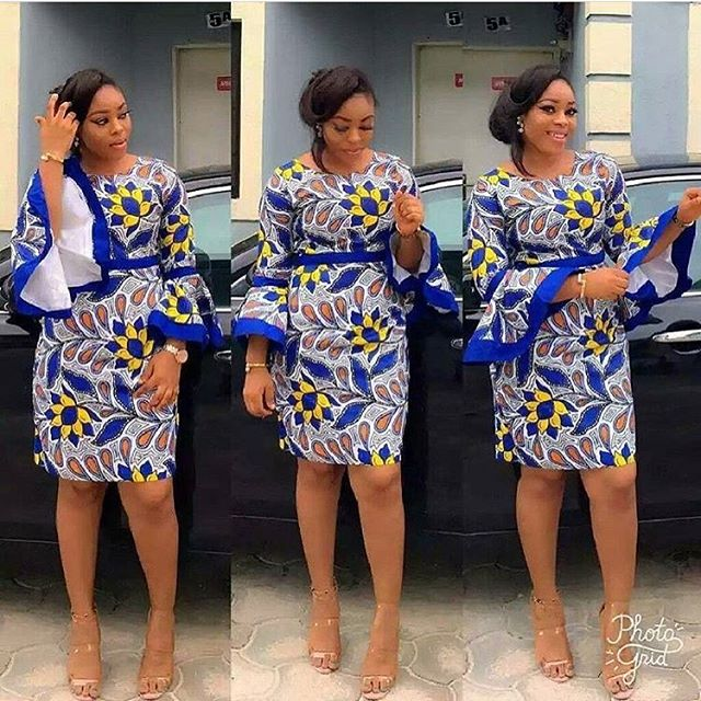 Super Stylish Ankara Short Gowns for Single Ladies - Zaineey\'s Blog