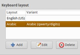 Setting keyboard Arab Arabic di GNU/Linux Xubuntu Ubuntu XFCE