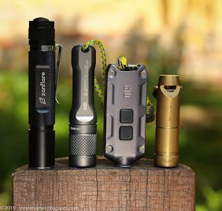 Zanflare F3, Astrolux A01, Nitecore TIP and Zanflare F6