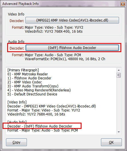KMPlayer Audio Problem - Software Development