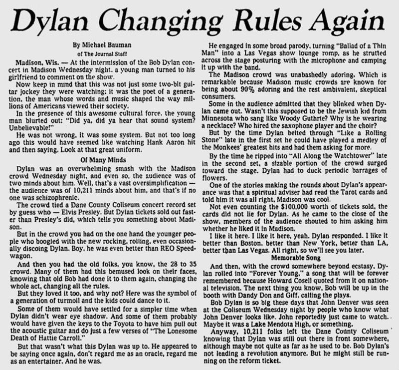 bob dylan record articles
