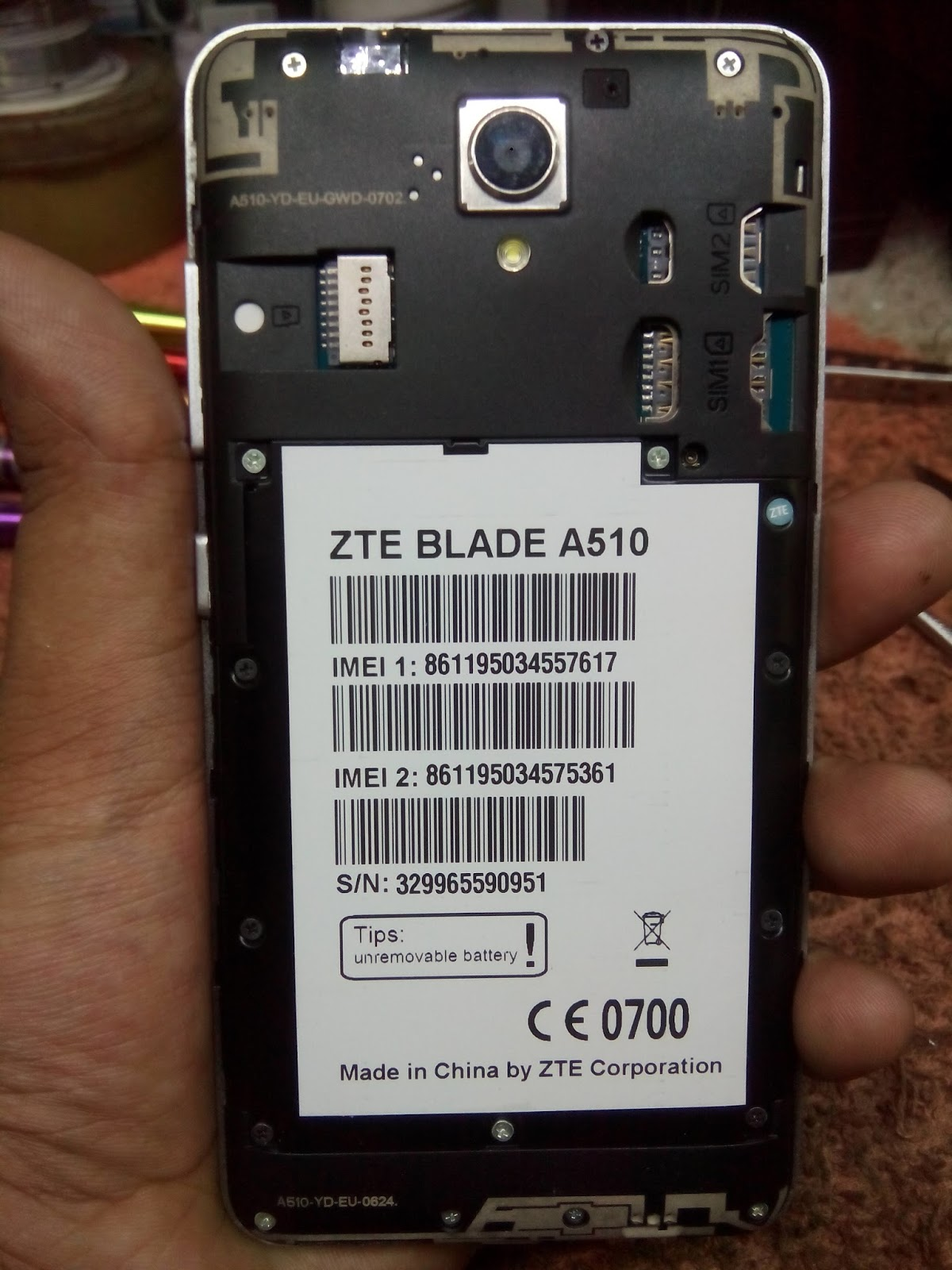 RAHIM TELECOM: ZTE BLADE A510 FLASH FILE MT6765 FIRMWARE 6 0