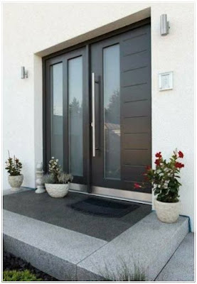 model pintu modern dengan kaca