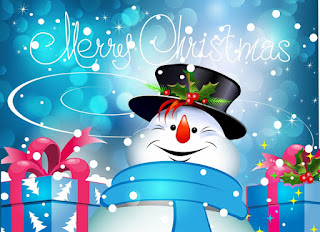 Snowman Greetings Happy Merry Christmas 2016