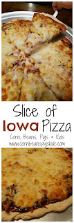 Slice of Iowa Pizza - full of Iowa flavors and perfect for a fun family night