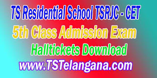 TREIS Telangana TS Residential School TSRJC CET 5th Class Admission Exam Halltickets Download