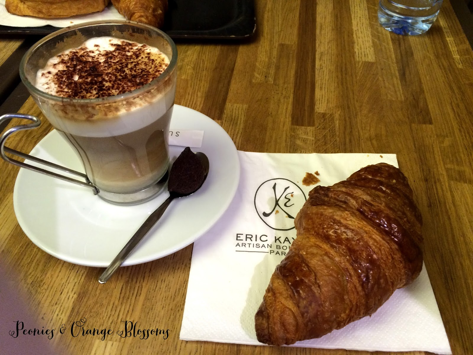 Croissant and Cappuccino from Eric Kayser