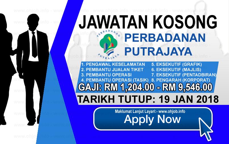 Jawatan Kerja Kosong Perbadanan Putrajaya - PPj logo www.ohjob.info januari 2018