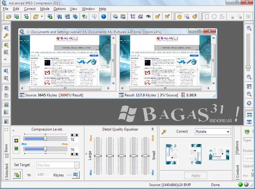 Bagus 31 Advanced JPEG Compressor 2011 Patch