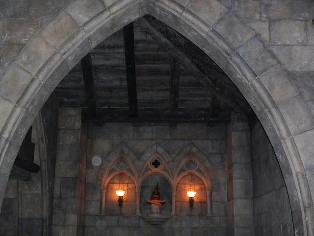 El sombrero seleccionador en la reproducción de Hogwarts en Universal Studios Japan