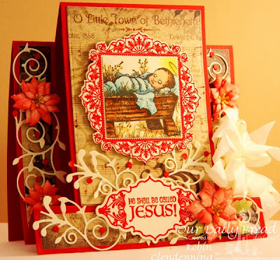 ODBD dies: Ornate Borders and Flowers set; Paper pack-Christmas 2013