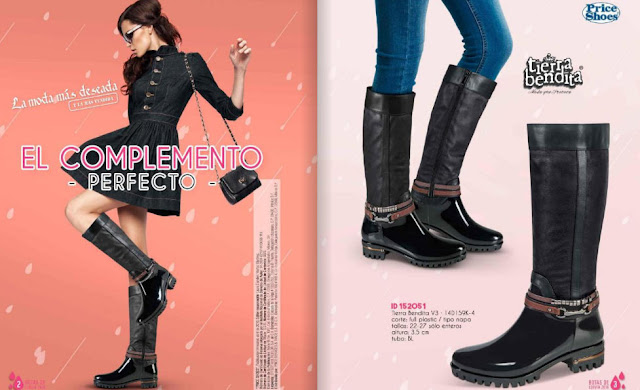 catalogo Zapatos Priceshoes  botas de lluvia 2016 online