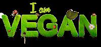 """Ilustração: O texto """"I am vegan"""" escrito com grama de onde saem flores e insetos."""