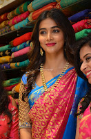 Puja Hegde looks stunning in Red saree at launch of Anutex shopping mall ~ Celebrities Galleries 053.JPG