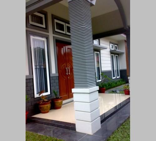 desain pilar teras rumah minimalis terbaru foto dan